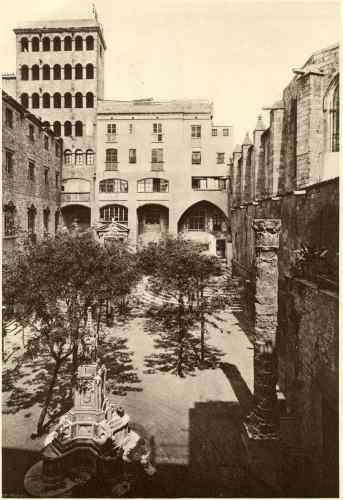 1928 - Plaça del rei - Barcelona