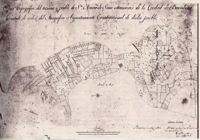 1838 - Mapa de Sants