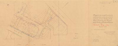 Planificació BE045 del perllongament del carrer Diputació entre Creu Coberta i Gran Via (1933)
