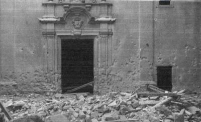 Imatge del lloc després del bombardeig (Origen desconegut)