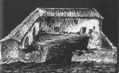 La base del Mas del Tartàs (Palau de Cerdanya) dibuixada pel guerriller Domingo Ibars